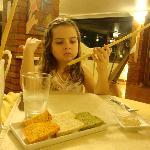Comienzo de cena en el restaurant La Fonte, Iguazú