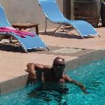 Relaxen im Pool