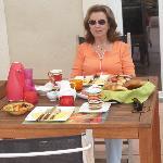 Auf der Frühstücksterasse