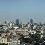 Вид на Киев с 9-го этажа гостиницы