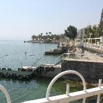 Looking out to the Sea of Galilee
