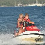 Me and Kims on a jet ski.