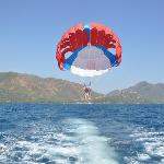 Me and Kims Parasailing right outside the hotel