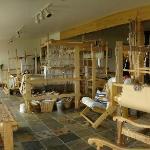 weaving studio of owner: very inspiring!