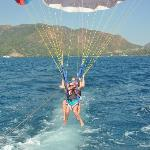 me and kims parasailing.