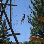 One of the ropes courses at Adventure Center, Squaw Valley