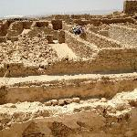 The storerooms - some reconstructed, some still in rubble.
