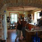 Rina and Cheri in the kitchen