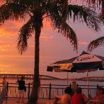 Tiki Bar at sunset