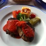 Medallones de filete en salsa de chile de Simojovel