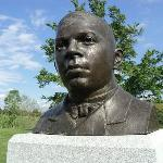 A Bust of Booker T. Washington, founder of Tuskegee