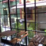 window at breakfast area