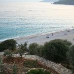 olu deniz beach seen from our terrace