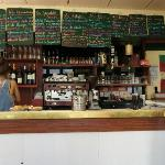the menu/bar area