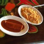 Cheese Enchilada & Rice (a la carte)