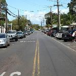 Downtown Makawao during rush hour