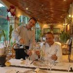 """Host""""Corry"""" and Chef """"Marc"""", the owners taking personal care of the guests."""