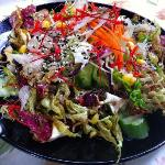 Edible flower salad (salad dok mai) MY FAVORITE DISH-- ask them to steam flowers not deep fry