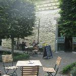 Outdoor seating area - very nice in the summer