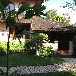 Vue de notre chambre avec son petit jardin privatif