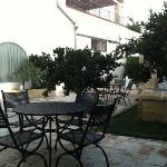 il cortile interno della colazione