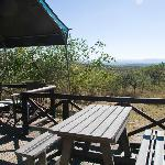 Safari Tent Deck with View