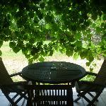 Une terrasse ds les vignes !