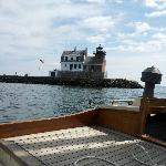 Rockland's Breakwater Lighthouse from the Anna R