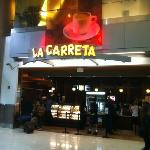La Carreta coffee shop. the restaurant is right behind.