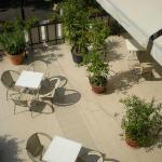 particolare della veranda (vista dal balcone della camera)