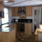 kitchen in 2 bed mobile home