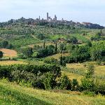 Vue sur San Gimignano de l'Agritourisme Poggiacolle
