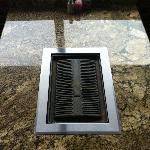 Granite tables where you can grill your own food.