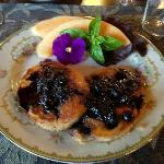 Another morning's 3rd course: Blueberry Pancakes