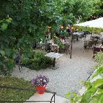 Le jardin vue de haut, ouvert en été par beau temps