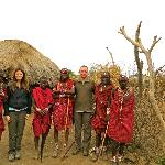 Visiting local Maasai warriors