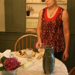 Maureen in the dining room