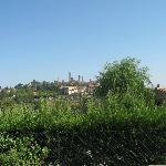 view of san gimignano from the locanda