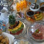 Teilansicht Frühstücksbuffet