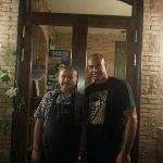 With the Chef Xavi. You have to have dinner here, it's rare.