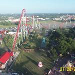 Roller Coaster seen from the sky tower