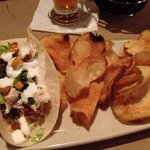 fish tacos & house made chips