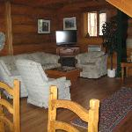 view of the shared living room in main chalet