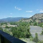 View of the Animas River from the deck and patio area