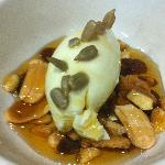 Musico Dessert  (Fresh Cheese Quenel with Dry Fruits & Honey