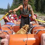 Mike and Ginger (the dog) giving us a great rafting trip