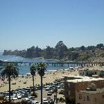 View of Capitola with beach area and pier