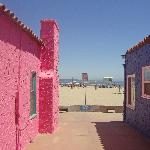 Colorful beach houses near the beach