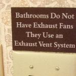 sign in every bathroom