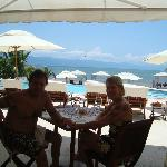 Having lunch at Priavte Beach Club